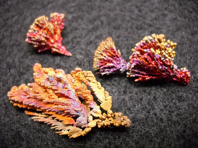 How Do You Grow Such Beautiful Copper and Silver Crystals?