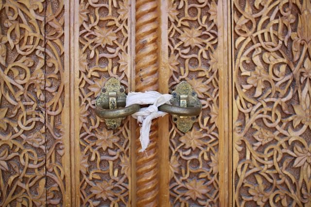 Ouzbékistan, Samarcande, Shah-i-Zinda, porte, © L. Gigout, 2010