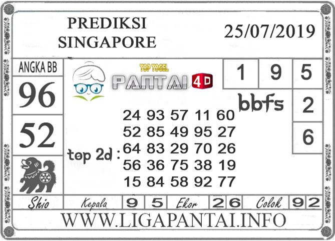 "PREDIKSI TOGEL ""SINGAPORE"" PANTAI4D 25 JULI 2019"