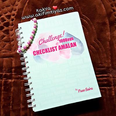 Buku checklist amalan by Puan Saira, Puan Saira, Pn   Saira, Tips rezeki buku cheklist amalan, Buku checklist amalan 100 hari, Amalan challenge, Istiqomah dalam beramal,