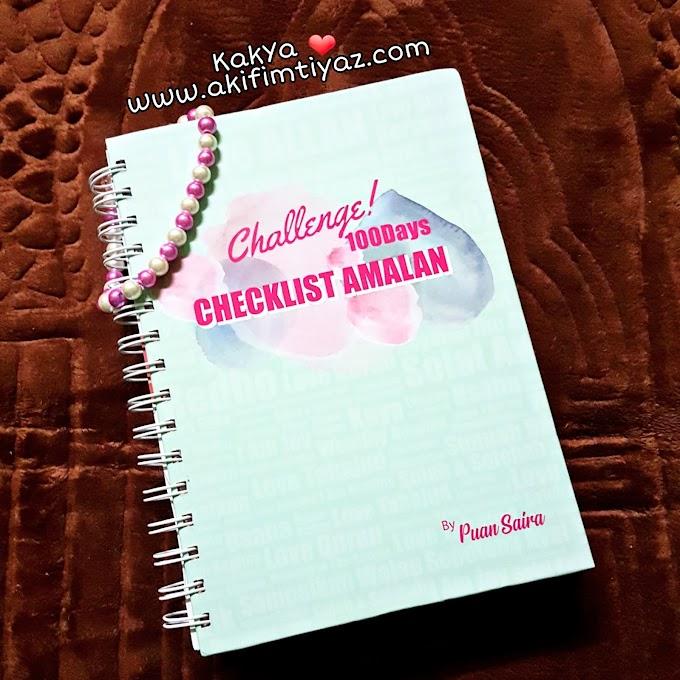 Buku Checklist Amalan 100 Hari  By Puan Saira