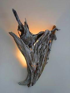 tronco lámpara