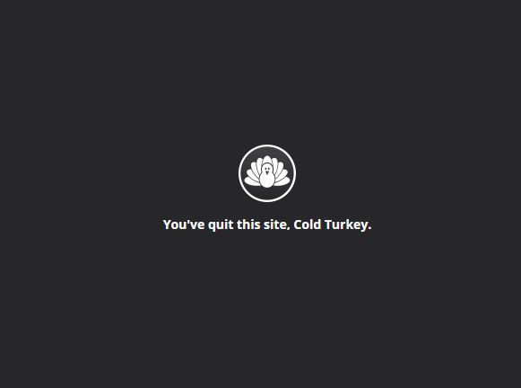 porn site blocked by cold turkey