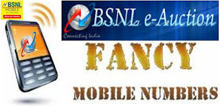 Premium BSNL Prepaid Mobile Vanity Number e-Auction (Choose Your Mobile Number)