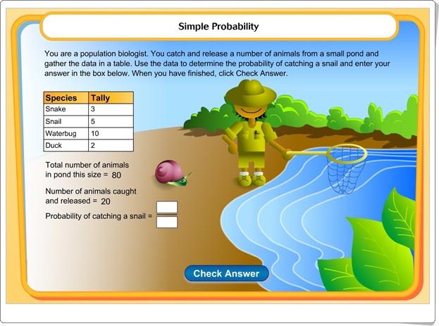 """""""Animales en el estanque"""" (Juego matemático de Probabilidad)"""