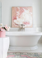Example of adding more color idea in white bathroom