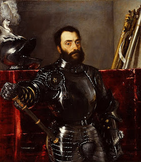 Titian's portrait of Eleonora's husband, Francesco, which is also in the Uffizi