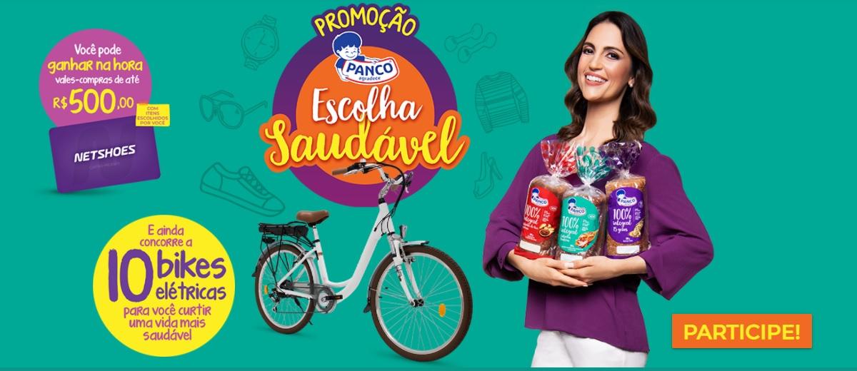 Promoção Pães Panco 2020 Escolha Saudável Bikes e Vale-Compras Netshoes - Cadastrar e Ganhadores