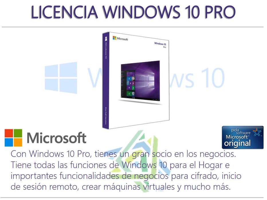 windows 10 pro licencia original digital ebay. Black Bedroom Furniture Sets. Home Design Ideas