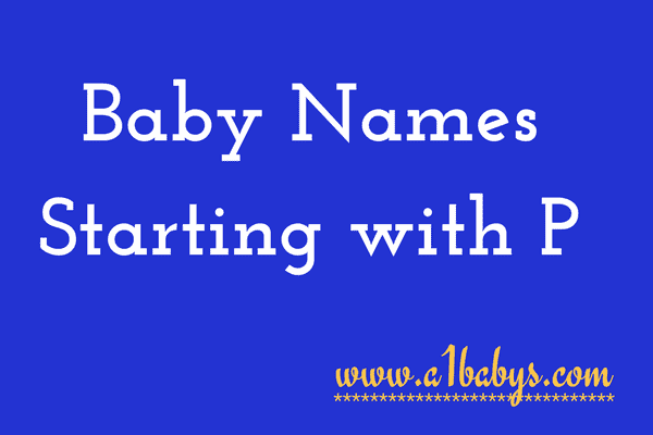 baby girl names starting with P