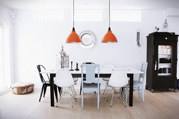 Sillas diferentes para decorar un mismo espacio
