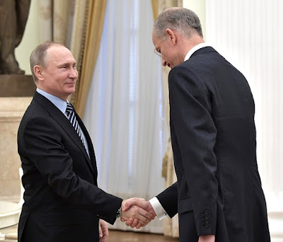 Vladimir Putin with BASF President and CEO Kurt Bock.