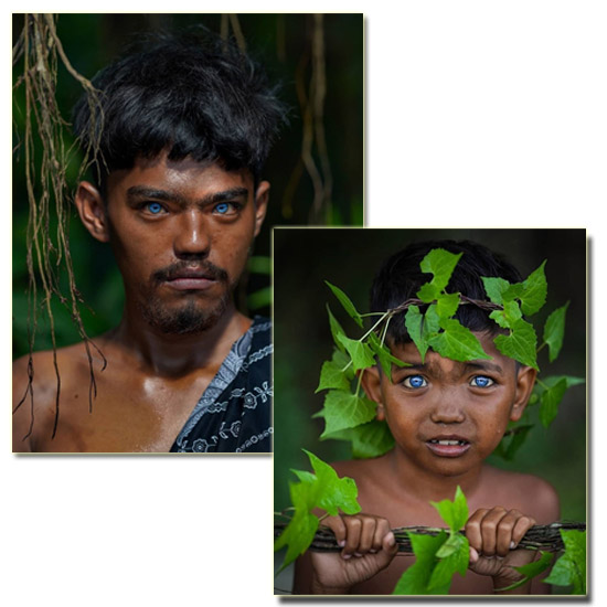 Tribo com Olhos Azuis Elétricos Img 1
