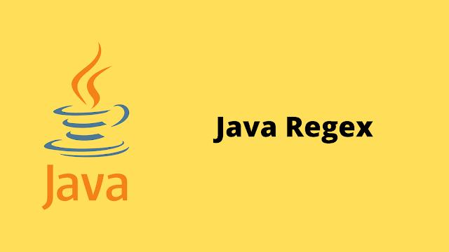 HackerRank Java Regex problem solution