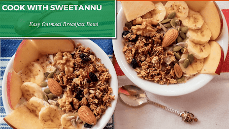 Easy Breakfast Overnight oatmeal bowl