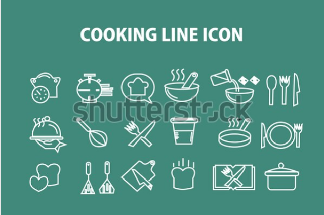 illustration example cooking line icon