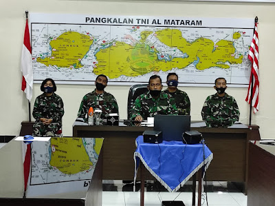 Lanal Mataram hadiri Zoom meeting Bahas Penanganan Covid-19