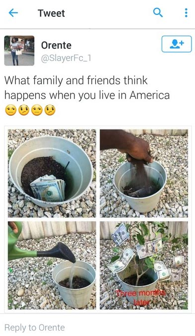 What your Nigerian friends think when you go to America