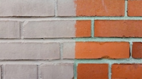 Painted and Unpainted brick