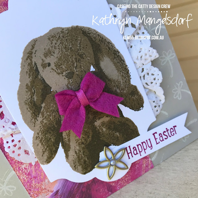 Stampin' Up! Sweet Little Something, Easter Card, Easter Bunny created by Kathryn Mangelsdorf