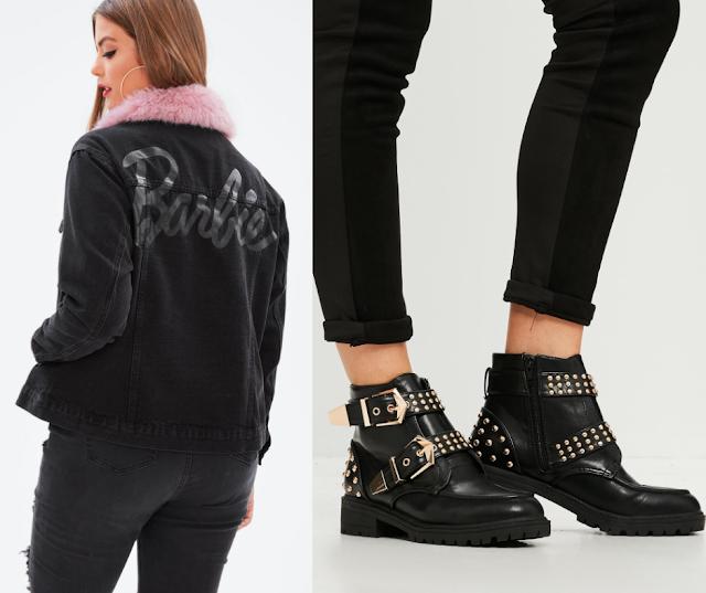 Barbie Denim Jacket || Studded Ankle Boots