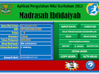 download aplikasi pengolahan nilai raport MI KK 13