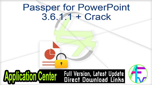 Passper for PowerPoint 3.6.1.1 + Crack