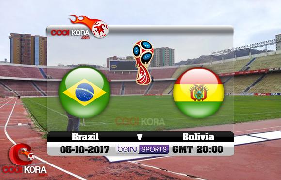 مشاهدة مباراة بوليفيا والبرازيل اليوم 5-10-2017 تصفيات كأس العالم