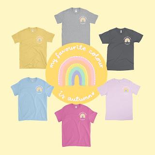 autumn rainbow tees t-shirts