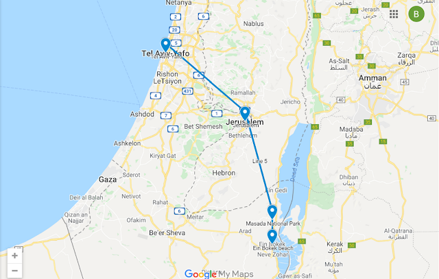 Israel Travel Route