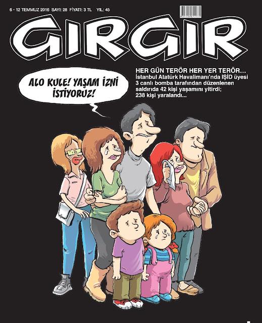 Gırgır Dergisi - 6-12 Temmuz 2016 Kapak Karikatürü