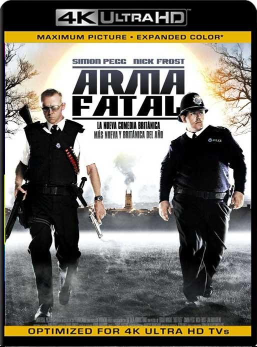 Hot Fuzz: Super policias (2007) 4K 2160p UHD [HDR] Latino [GoogleDrive]