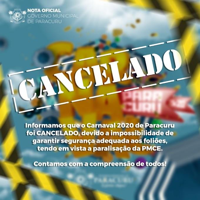 Municípios cancelam festa de Carnaval por impossibilidade de garantir segurança do evento