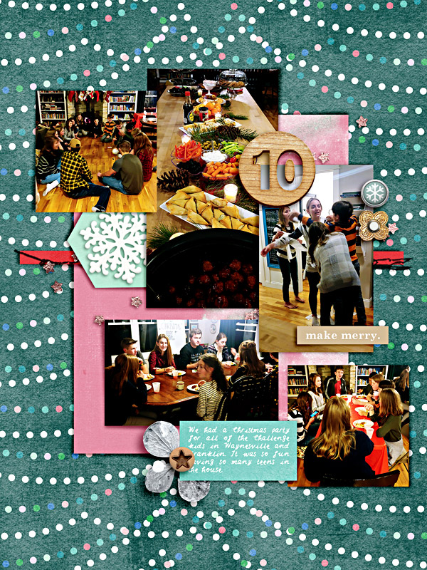 Memory 10 - Digital Scrapbook Christmas Page