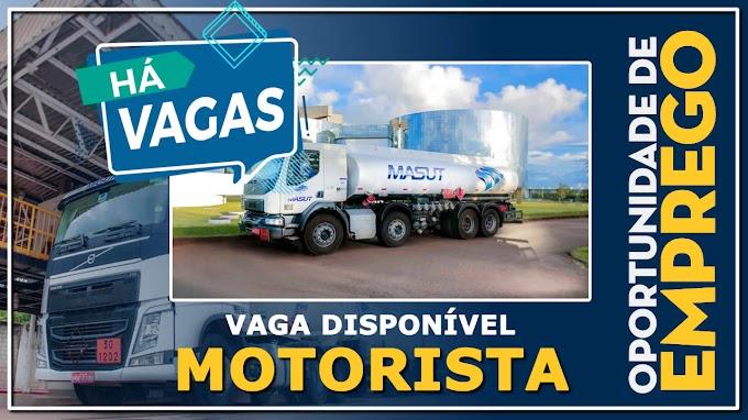 Transportadora Masut abre vagas para Motorista com contratação imediata
