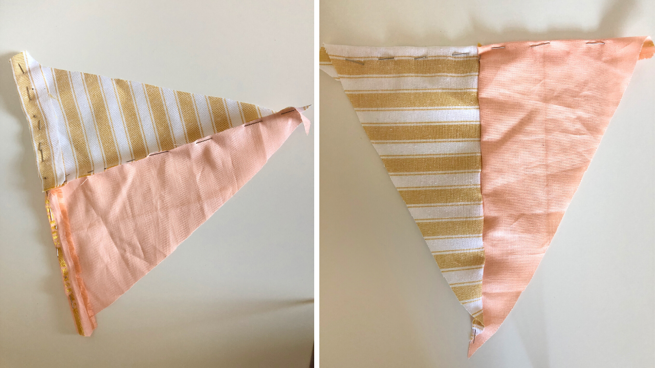 How to make a DIY kite wall hanging decoration, perfect for a babies nursery or child's room. Follow this simple tutorial to make this craft project, with a no-sew option too. Craft projects to create your own handmade decor.