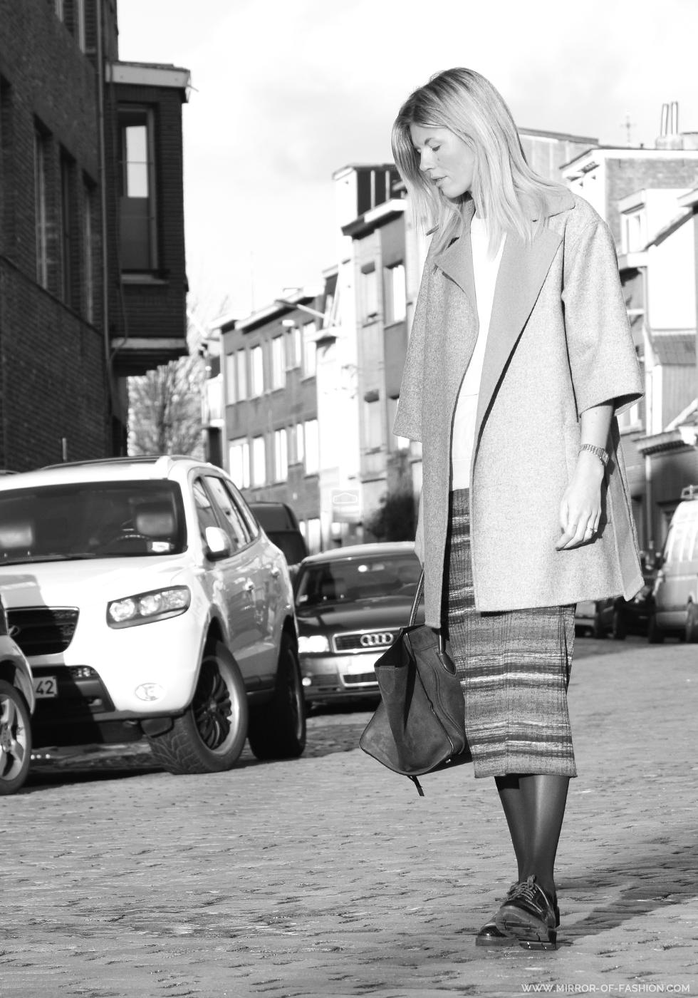 Max Mara, By Malene Birger, Céline, Zara, Falke, BeOriginal, Outfit of the day, midi skirt,