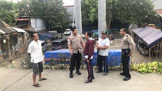Kapolsek Tanjung Duren Mengecek Pos Terpadu