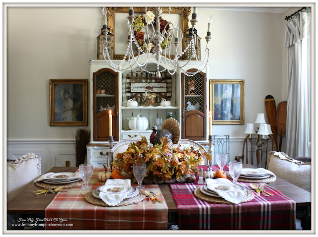 Farmhouse -Thanksgiving- Fall- Dining Room-Centerpiece-From My Front Porch To Yours