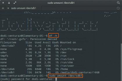 Format Flashdisk di Linux via Terminal