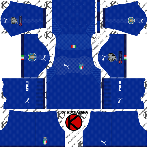 Italy 2018-2019 Kit - Dream League Soccer Kits