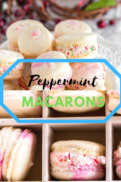 Peppermint Macarons #VALENTINE #PEPPERMINT #MACARONS