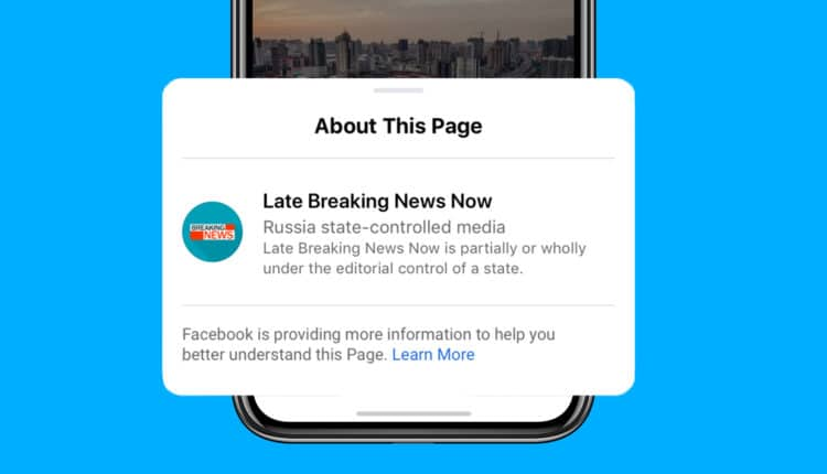 Facebook is taking new steps to distinguish publications and government media