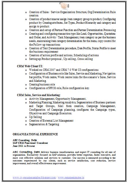 example of best job resume