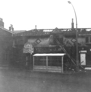 Egerton Conservative Club during demolition in 1963