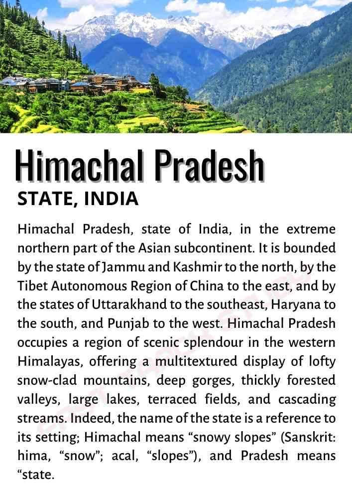 Art Integrated Project on Himachal Pradesh