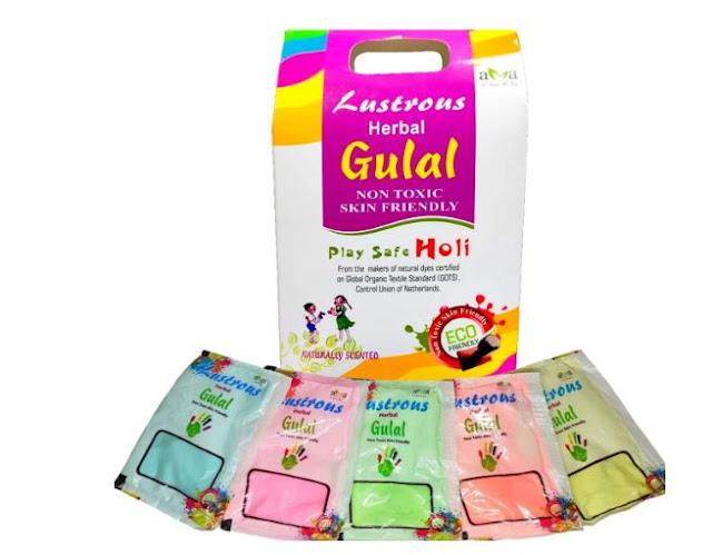 Vegetal Lustrous Natural Holi Colours Herbal Gulal (400gm, Pack of 5 - Red; Green; Orange; Yellow; Blue)