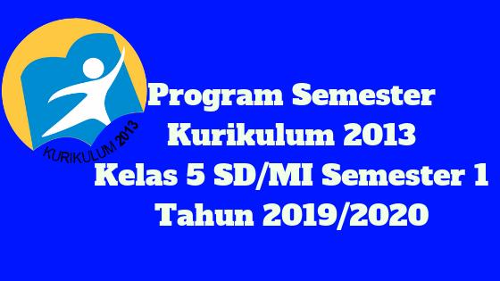Program Semester Kurikulum 2013 Kelas 5 SD/MI Semester 1 Tahun 2019/2020 - Mutu Guruku