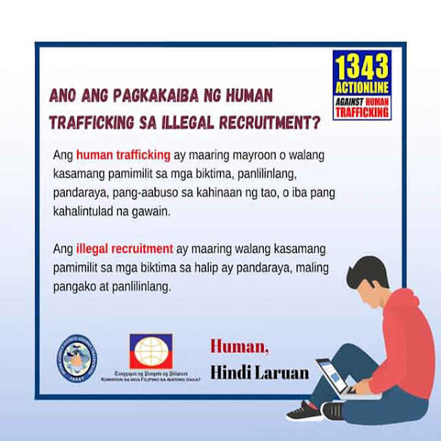 pagkakaiba ng human trafficking sa illegal recruitment