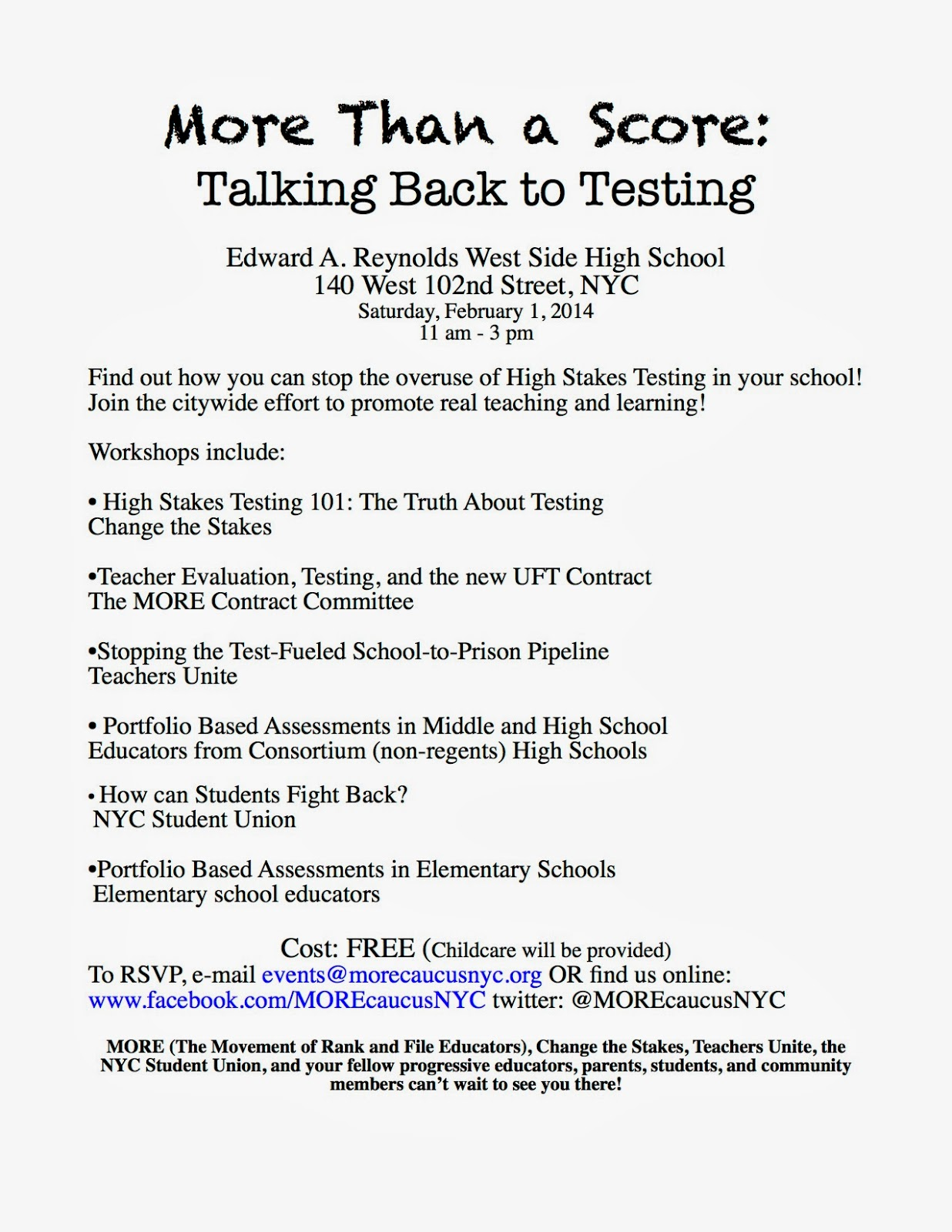 02e2c4e54a3391 Ed Notes Online  MORE Than a Score a Week Away and How One Principal is  Dealing With Parent Community on Testing